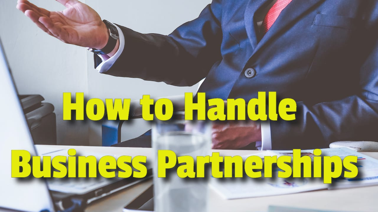 how to handle a business partnership
