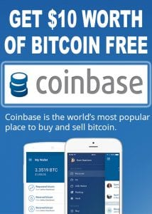 $10 Free Bitcoin with Coinbase
